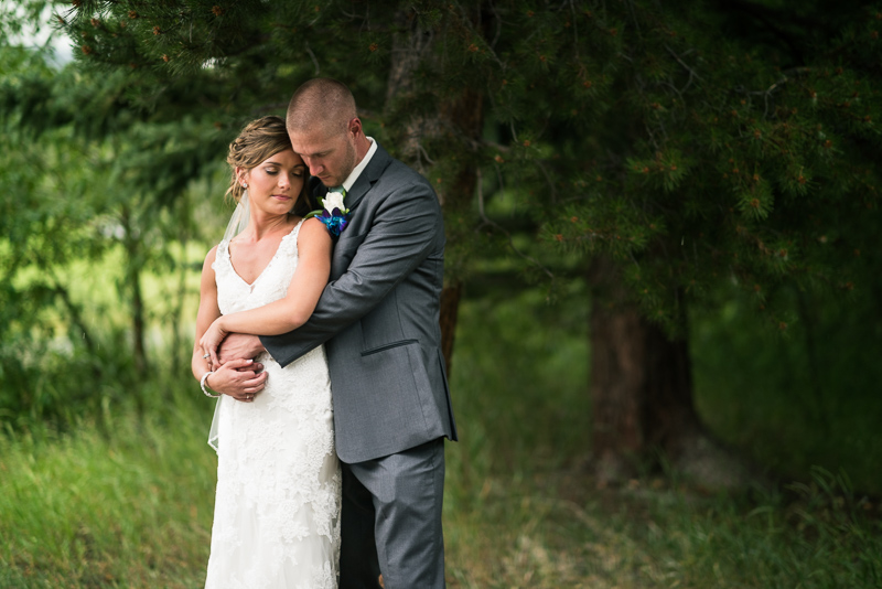 Silverthorne Wedding Photographer couple by river