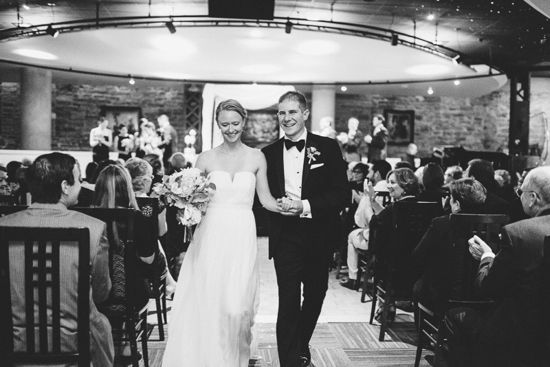 Denver Opera House Wedding Photographer walking down aisle