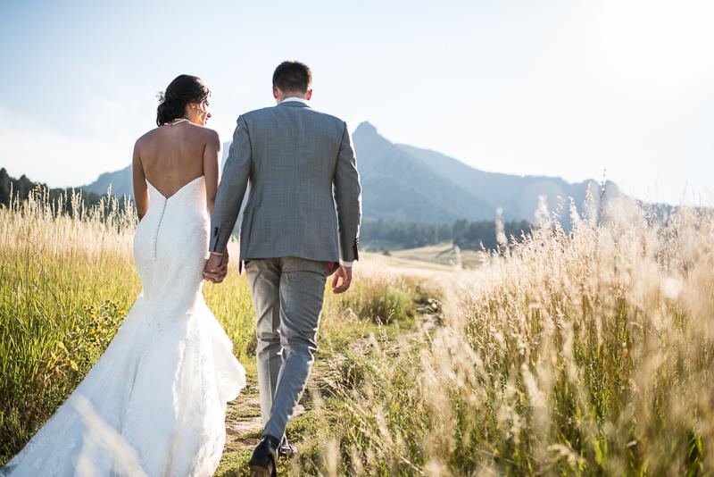 Boulder Wedding Photography bride and groom chautauqua park flatirons